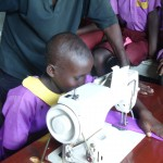 sewing macines at Kakunyu School, Uganda